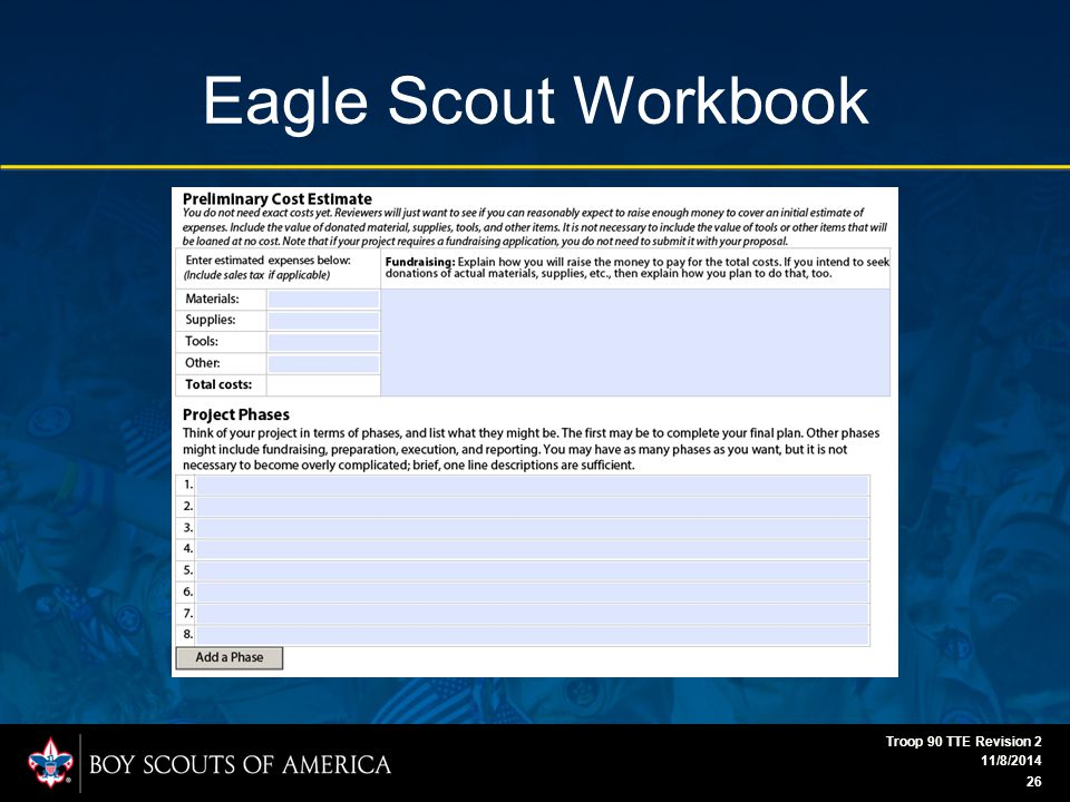 Eagle Scout Workbook 11/8/2014 Troop 90 TTE Revision 2 26