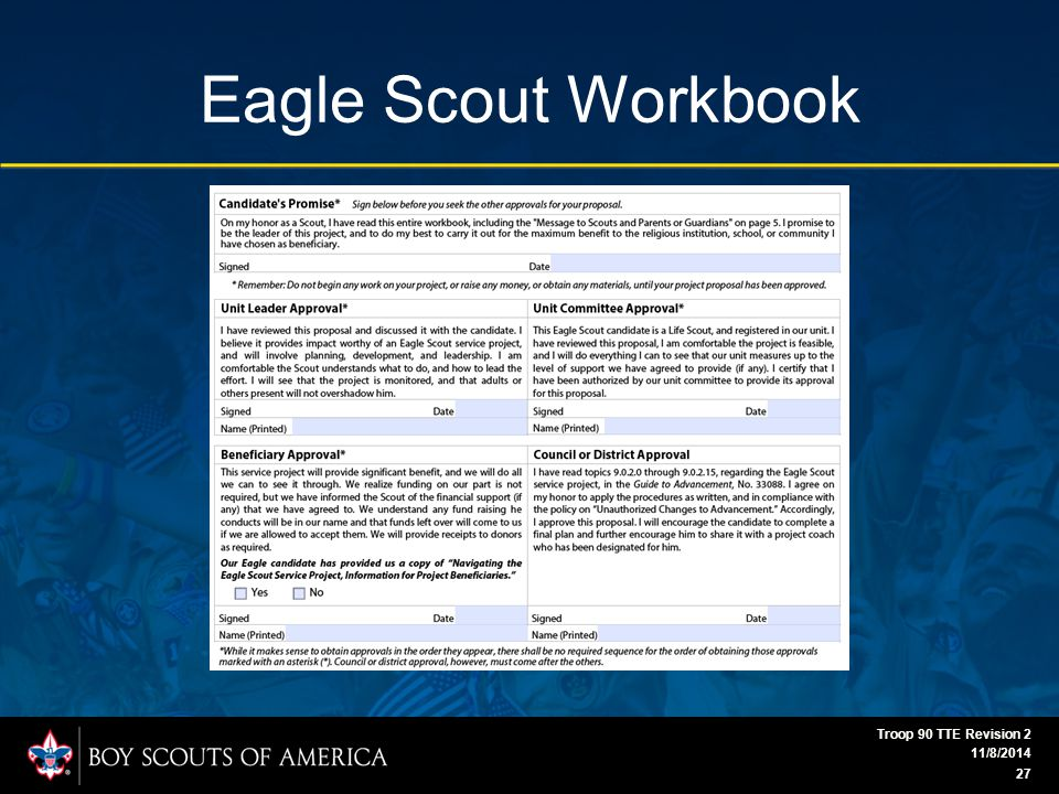 Eagle Scout Workbook 11/8/2014 Troop 90 TTE Revision 2 27