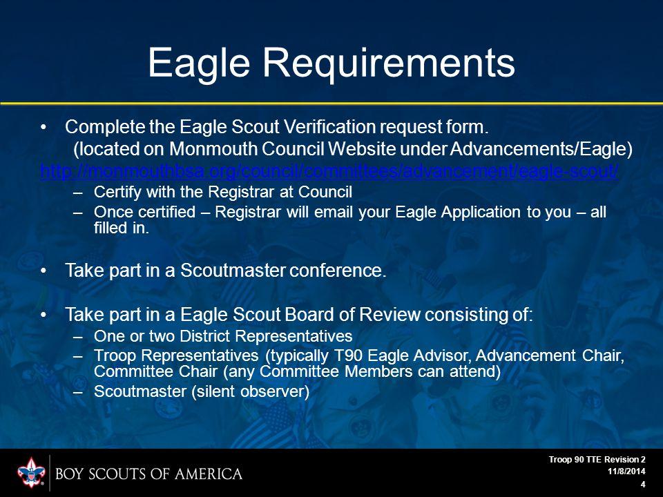 Eagle Scout Workbook 11/8/2014 Troop 90 TTE Revision 2 25