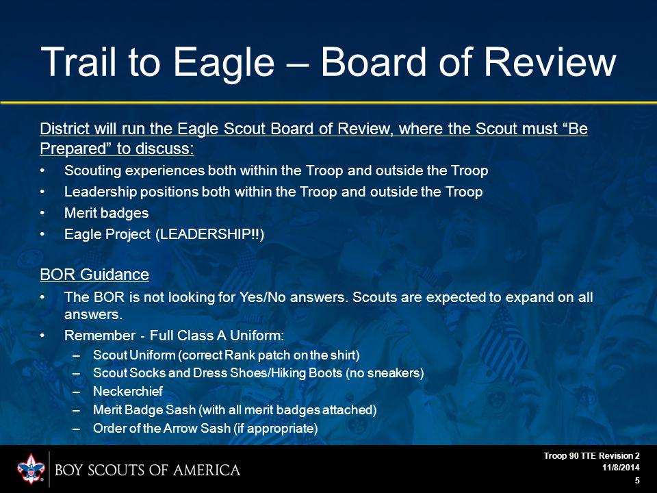 Trail to Eagle Appendix 11/8/2014 Troop 90 TTE Revision 2 16