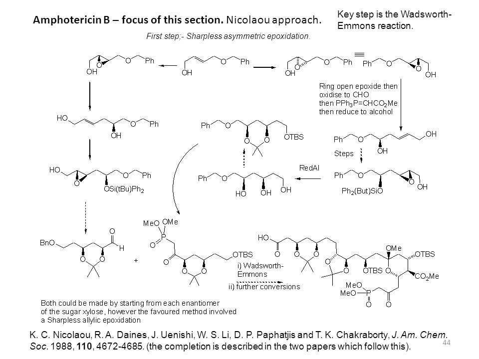 44 K. C. Nicolaou, R. A. Daines, J. Uenishi, W. S. Li, D. P. Paphatjis and T. K. Chakraborty, J. Am. Chem. Soc. 1988, 110, 4672-4685. (the completion