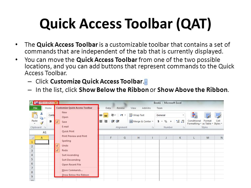 The Ribbon The Ribbon is designed to help you quickly find the commands that you need to complete a task.