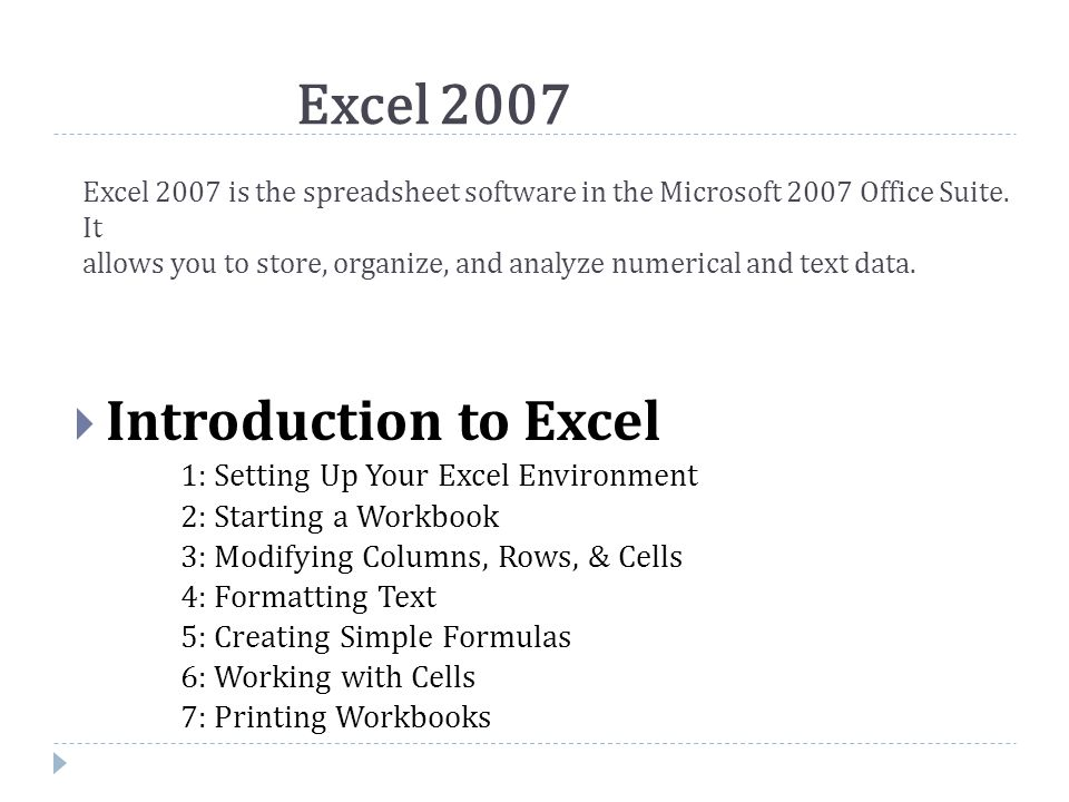  Introduction Before you begin creating spreadsheets in Excel, you may want to set up your Excel environment and become familiar with a few key tasks and features such as how to minimize and maximize the Ribbon, configure the Quick Access toolbar, switch page views, and access your Excel options.