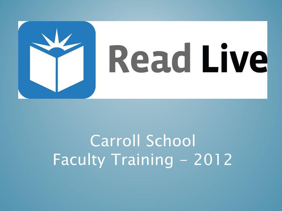 Carroll School Faculty Training - 2012