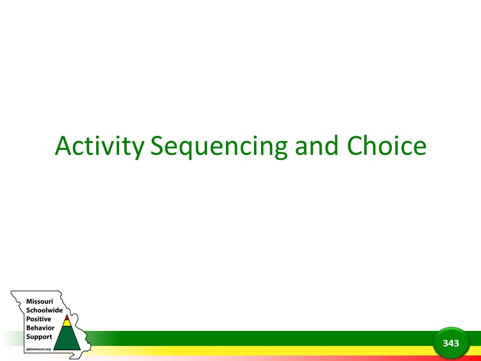 Activity Sequencing and Choice 343