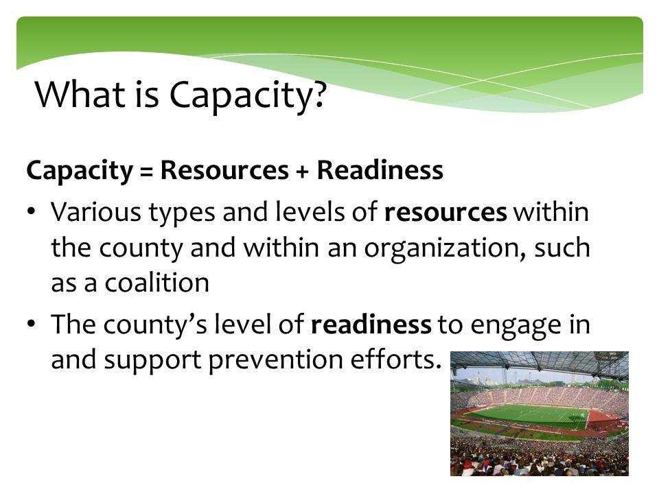 Building Capacity: Five Areas