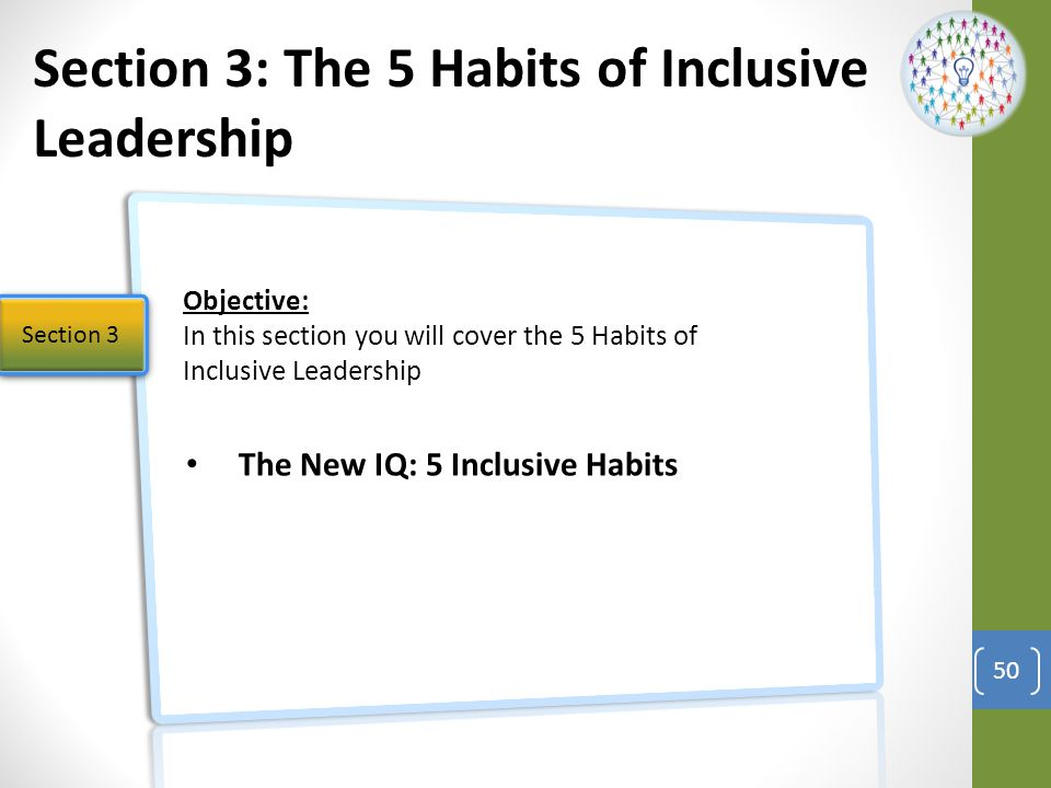 The New IQ: 5 Inclusive Habits 51