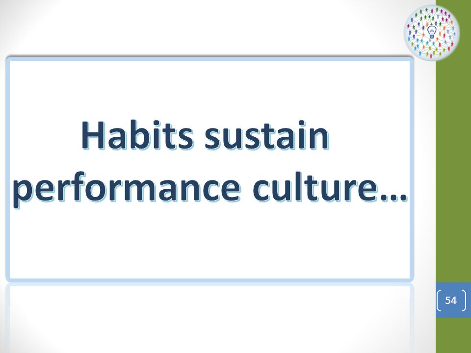 Section 4: Making Habits Stick Identify Target Actions Use 3 Step Method to New Habit Shape Environment Identify Measurement System 55 Objective: In this section you will identify target behaviors and create new pathways for positive habits Section 4