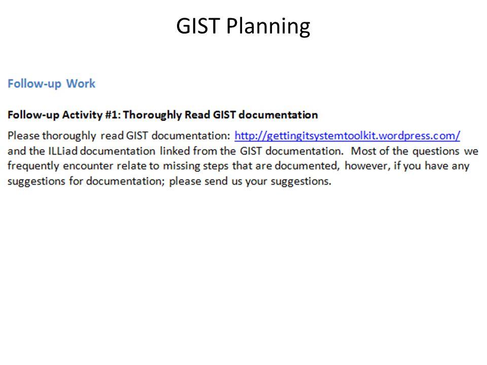 GIST Planning