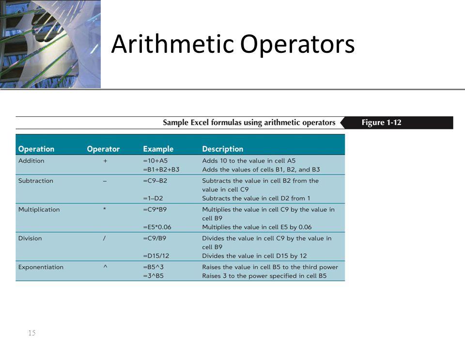 XP Arithmetic Operators 15