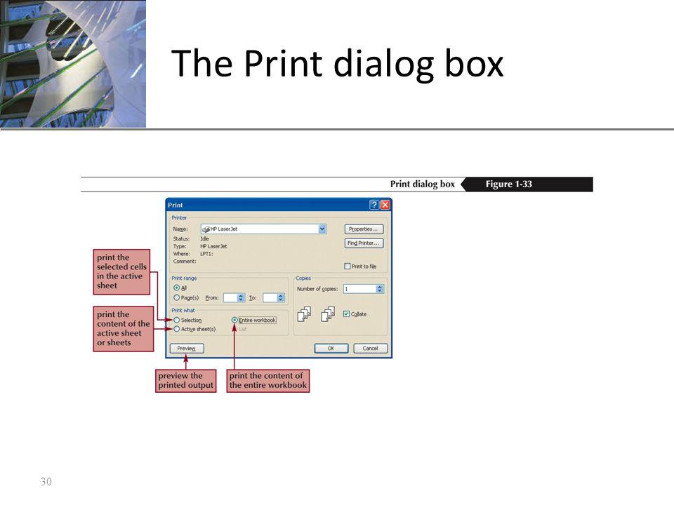 XP The Print dialog box 30