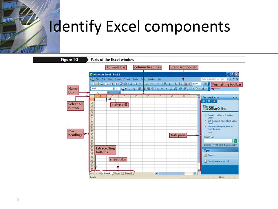 XP Identify Excel components 5