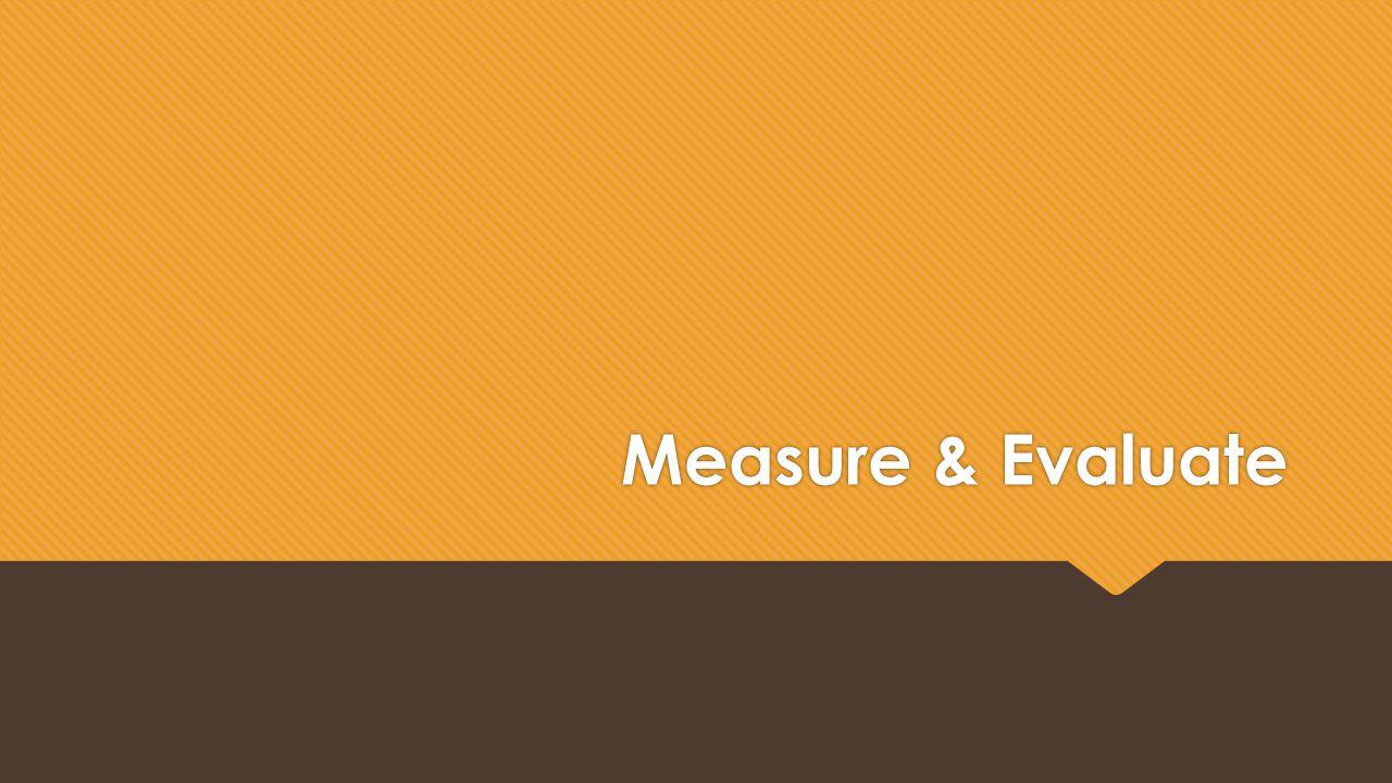 Measure & Evaluate