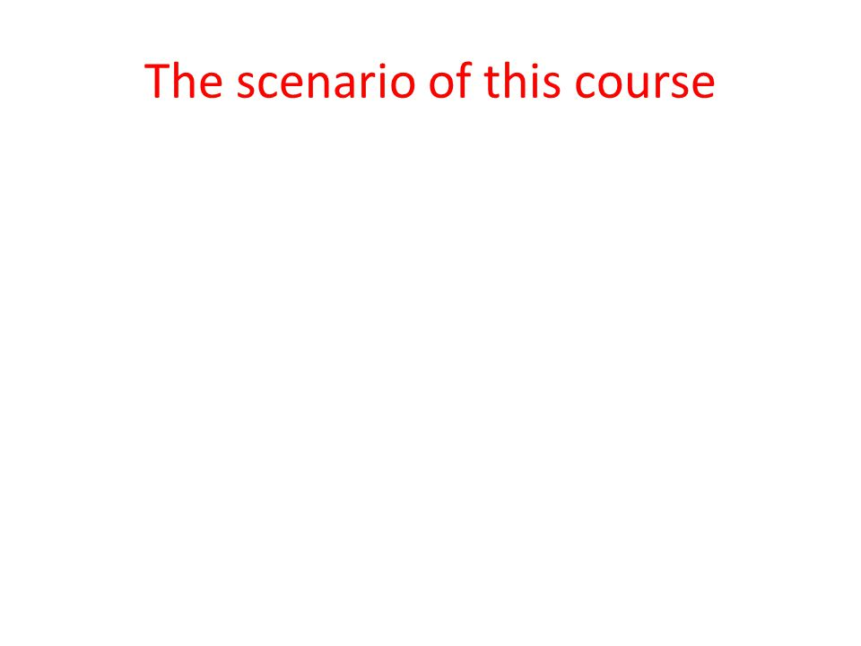 The scenario of this course