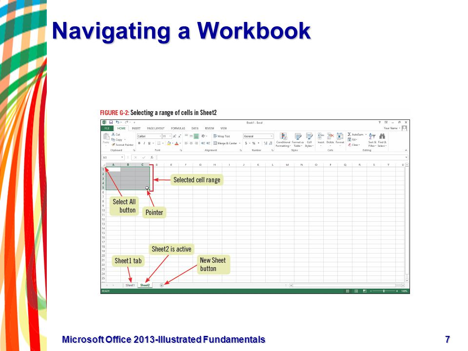 Navigating a Workbook 7Microsoft Office 2013-Illustrated Fundamentals