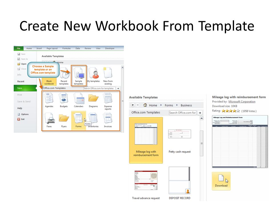Create New Workbook From Template