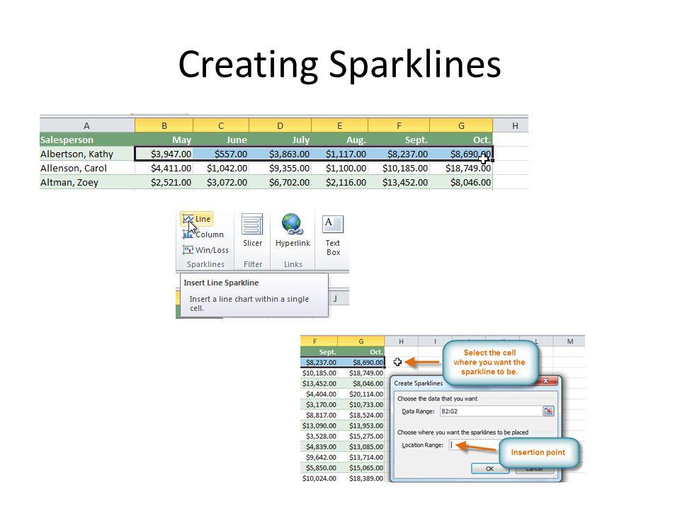 Creating Sparklines