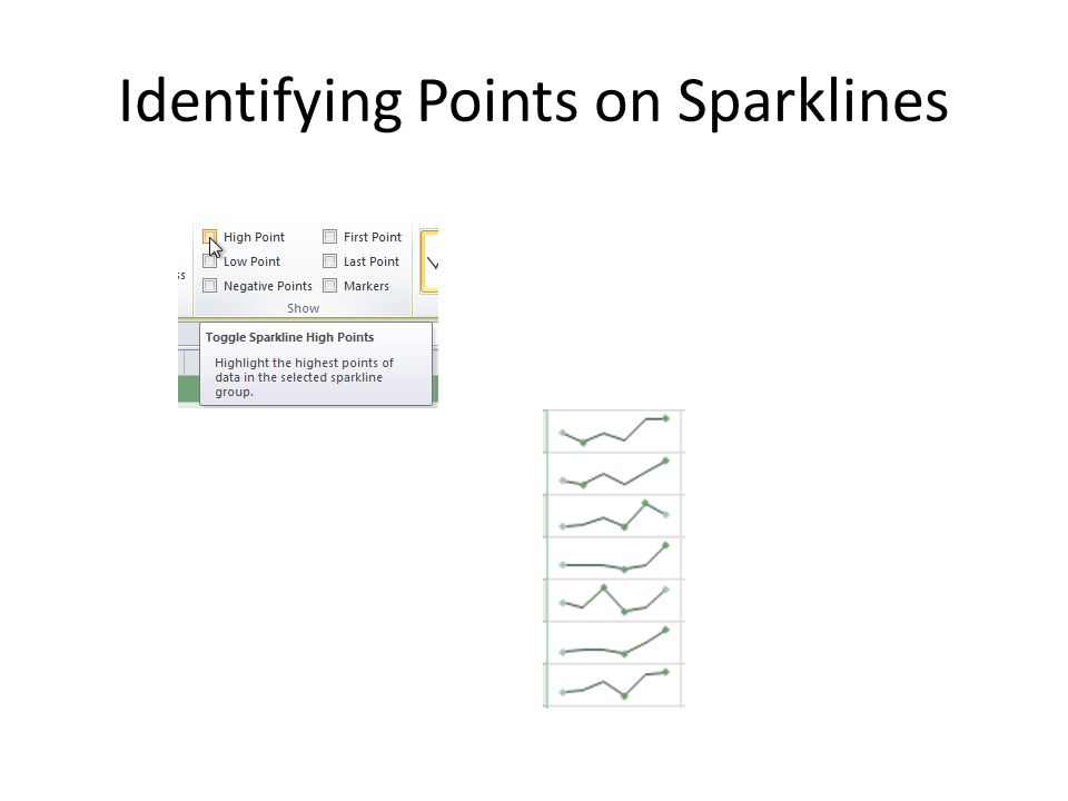 Identifying Points on Sparklines