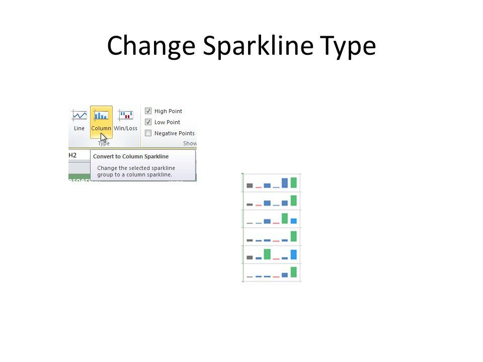 Change Sparkline Type