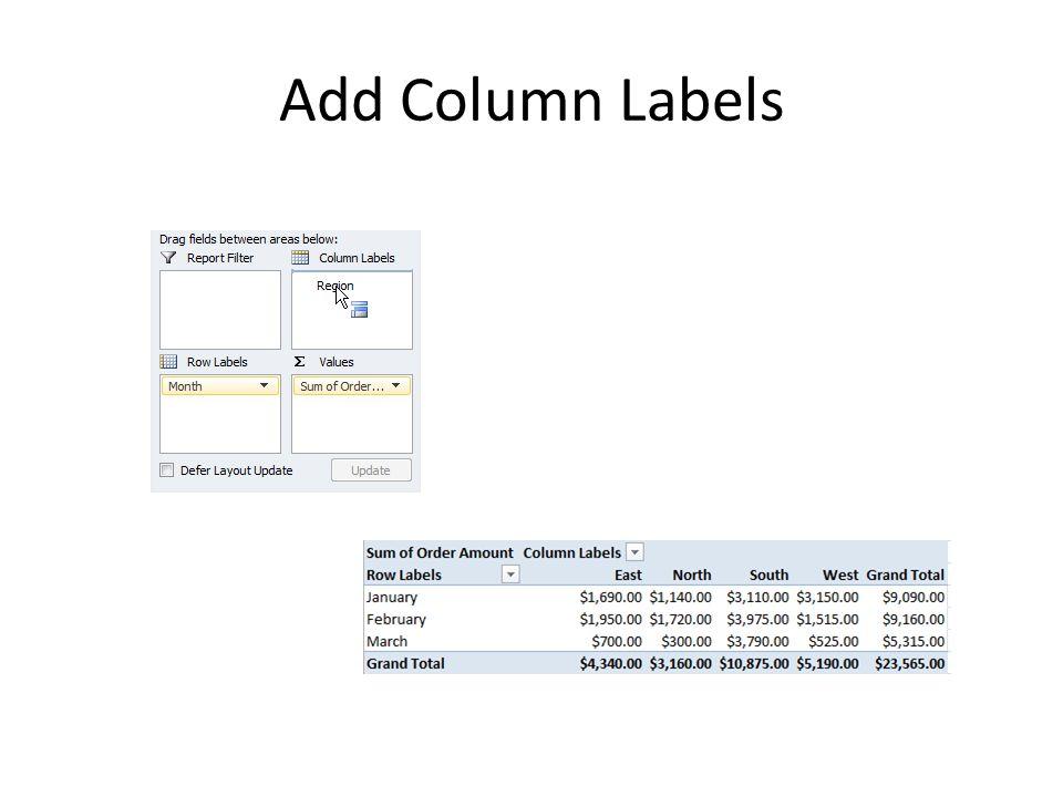 Add Column Labels