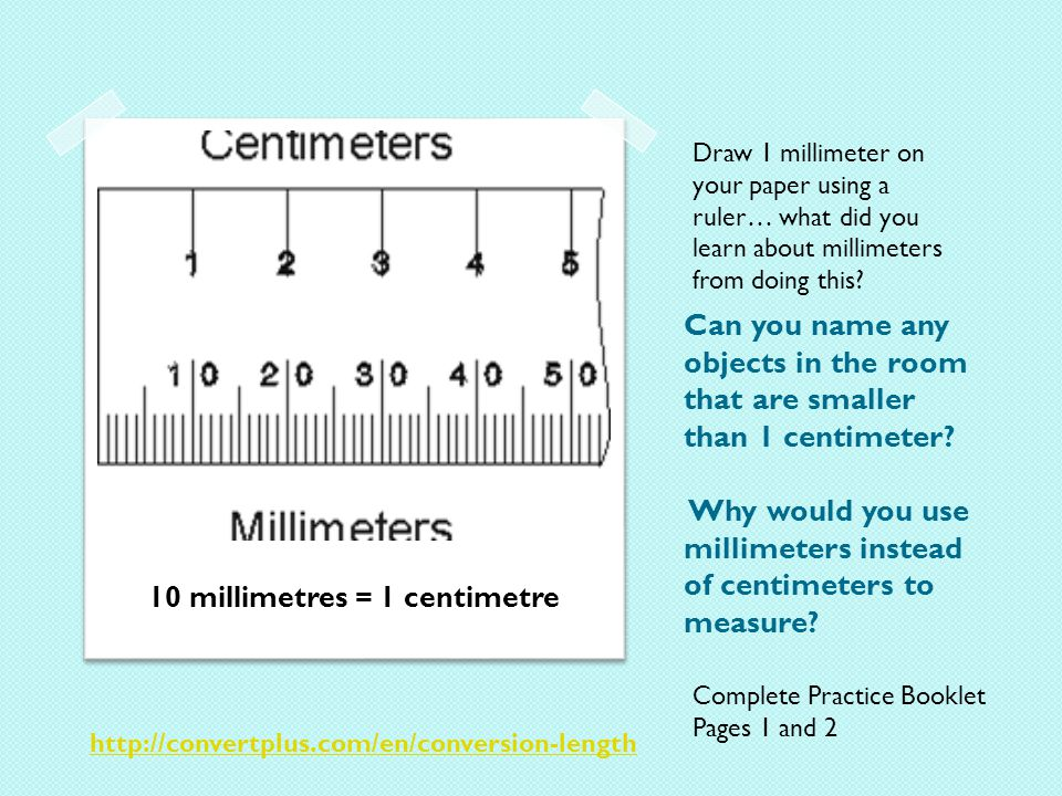 Can you name any objects in the room that are smaller than 1 centimeter.