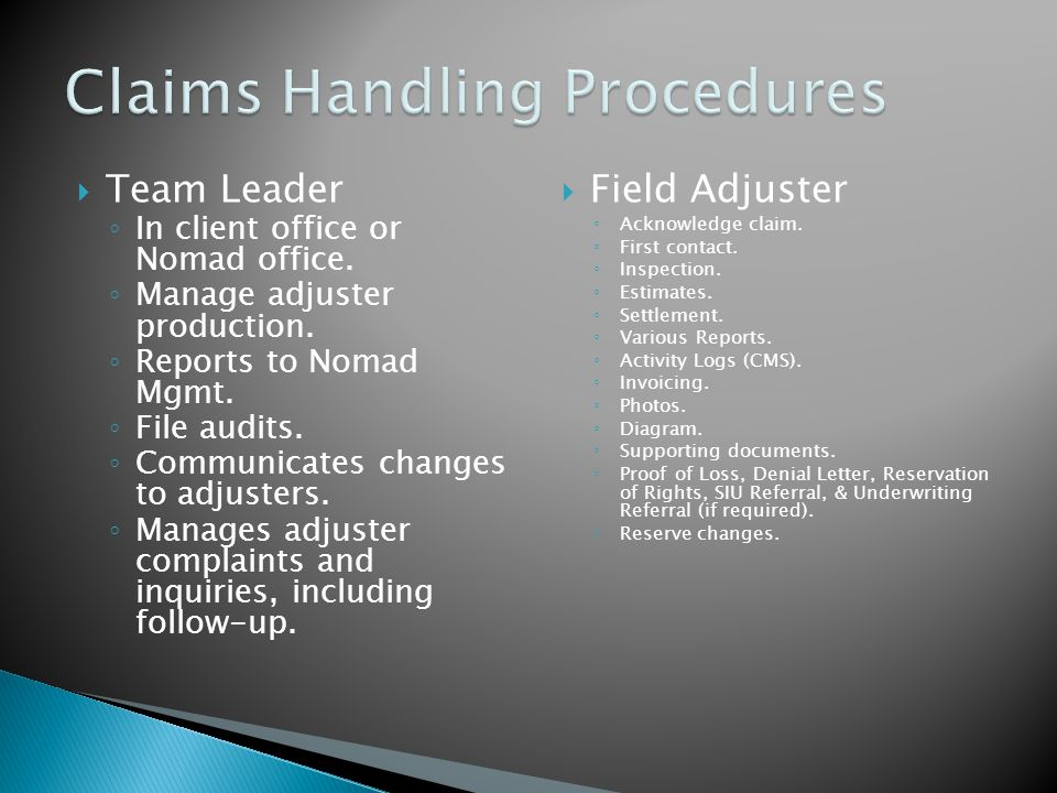  File Examiner ◦ Resolve technical claims issues.