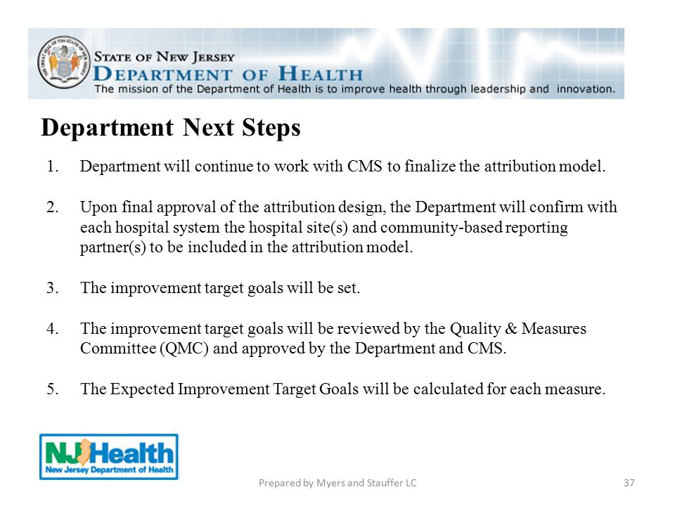 37 Department Next Steps 1.Department will continue to work with CMS to finalize the attribution model. 2.Upon final approval of the attribution desig