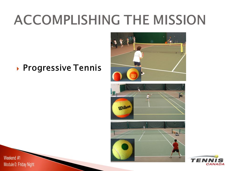  Progressive Tennis ACCOMPLISHING THE MISSION