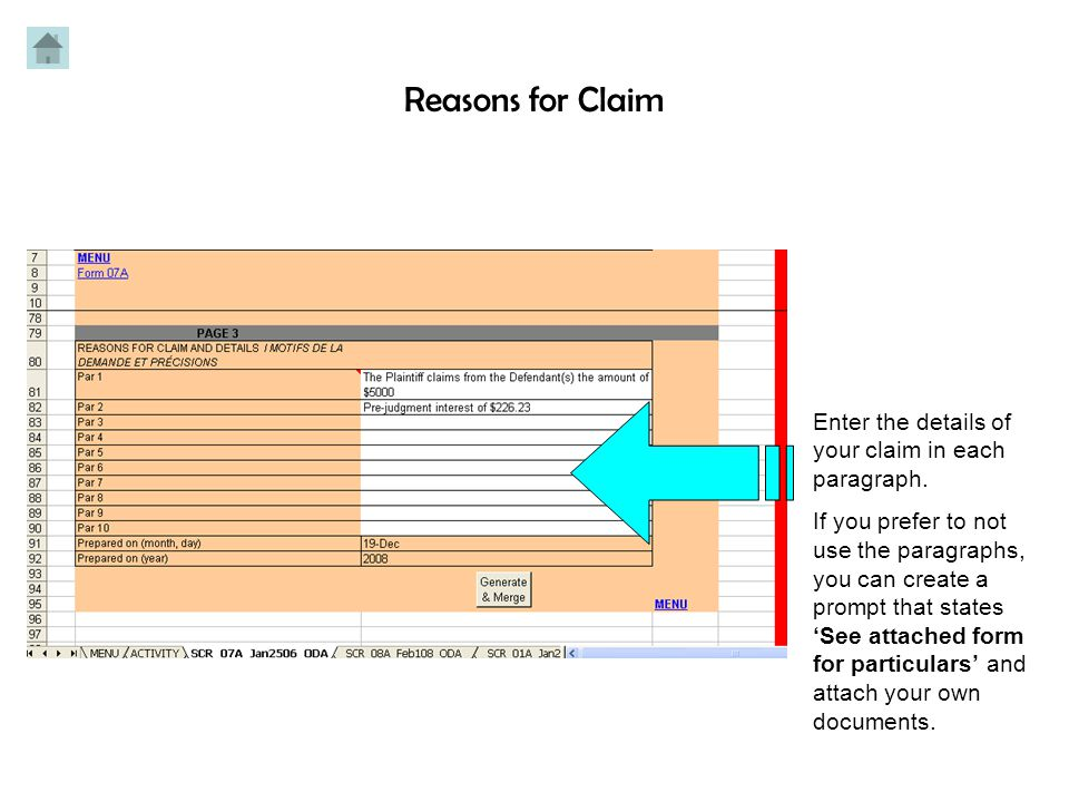 TYPE OF CLAIM: Mark an 'X' for the type of claim you are making.