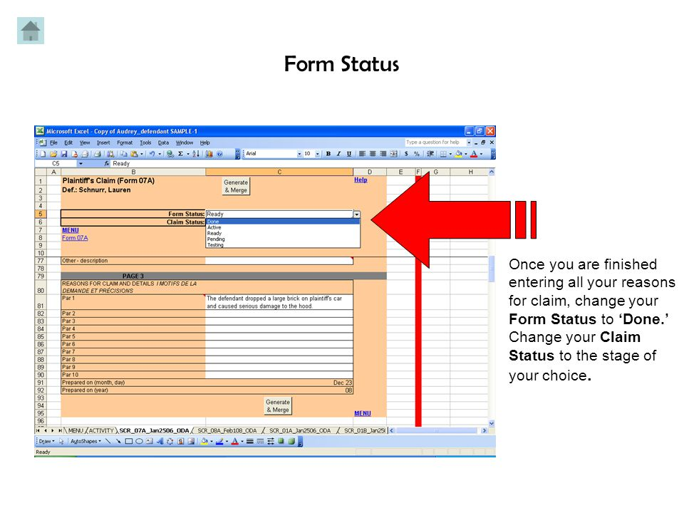 Enter the details of your claim in each paragraph.
