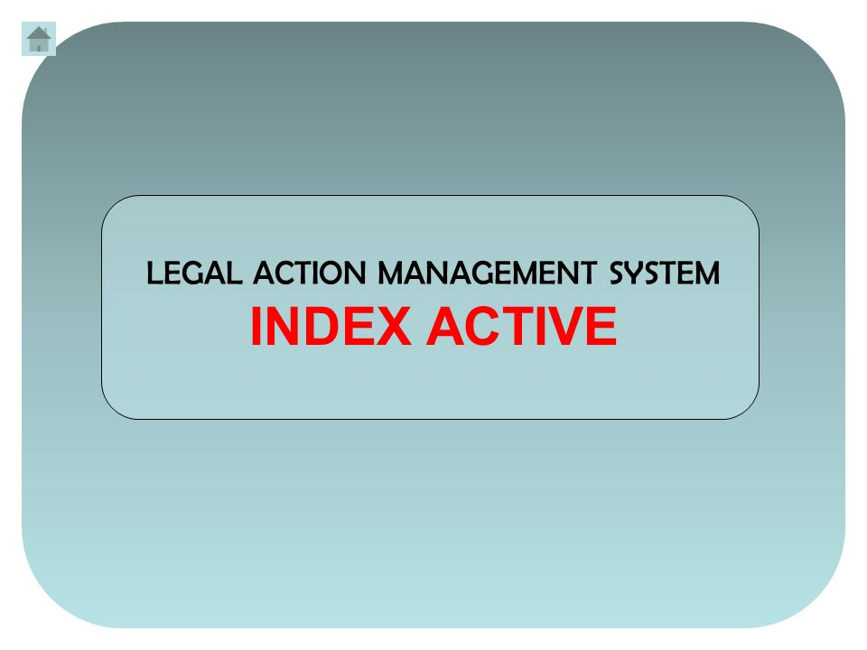 The Legal Action Management System (LAMS) operates by storing the minimum amount of your information in an MS-Excel workbook.