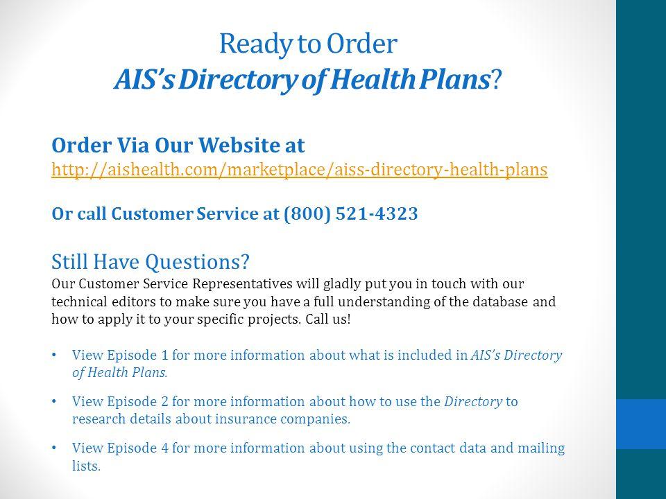 All known health insurers and PPO networks operating as of Jan.