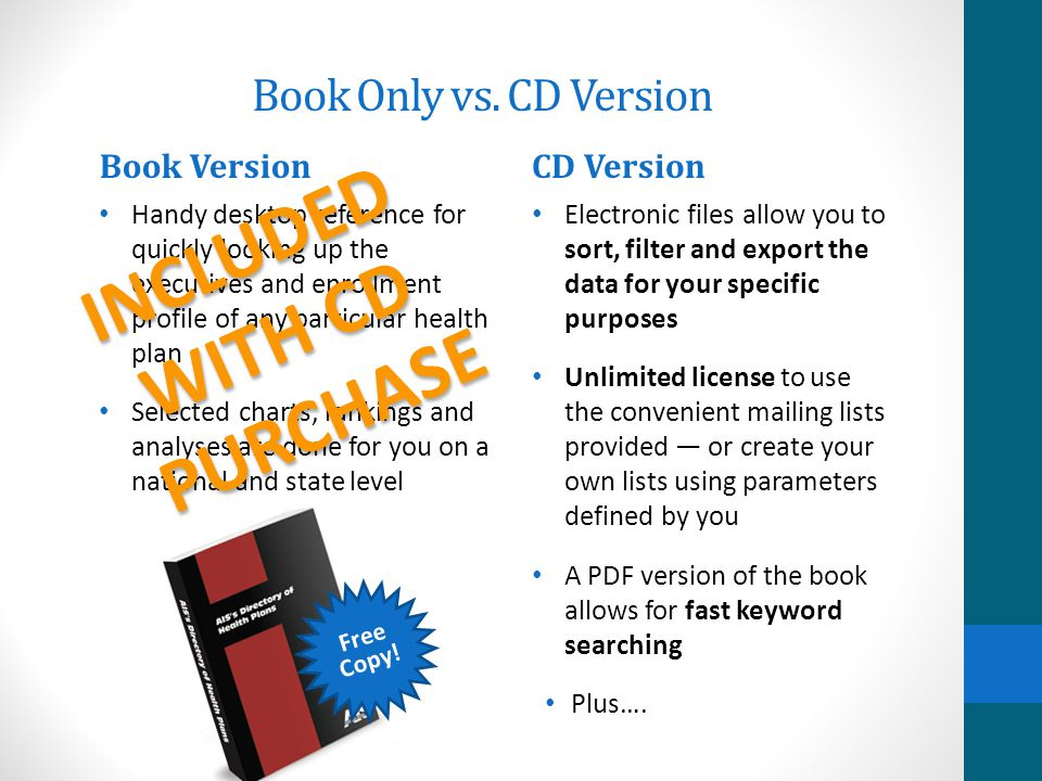 Free Copy.Book Only vs.