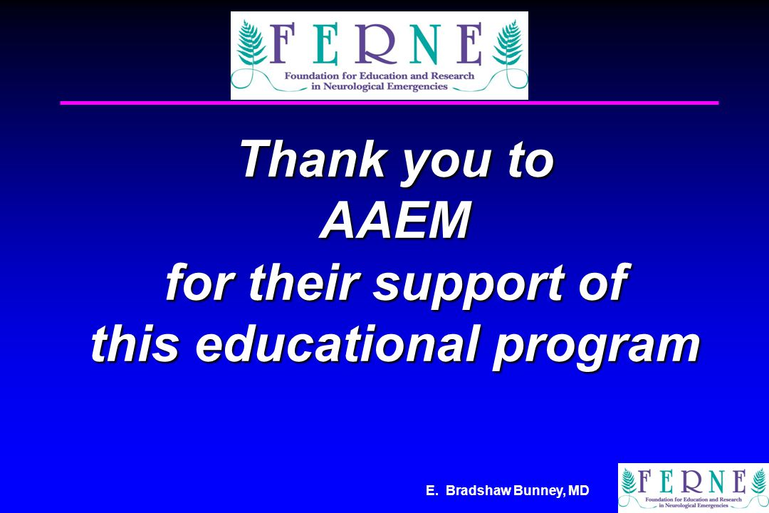 Thank you to AAEM for their support of this educational program