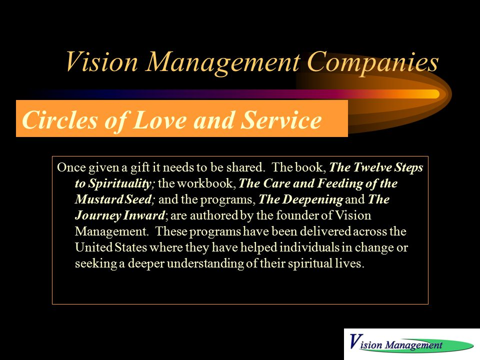 Vision Management Companies This is an ongoing real estate project that continues to provide encouraging results for individuals.