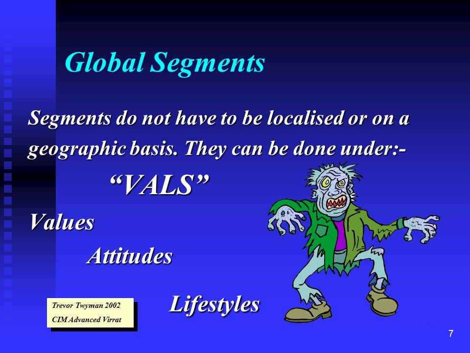 8 Consumer Segments Demographics:- Age, sex, occupation, Geodemographics Census Data, Mapping.