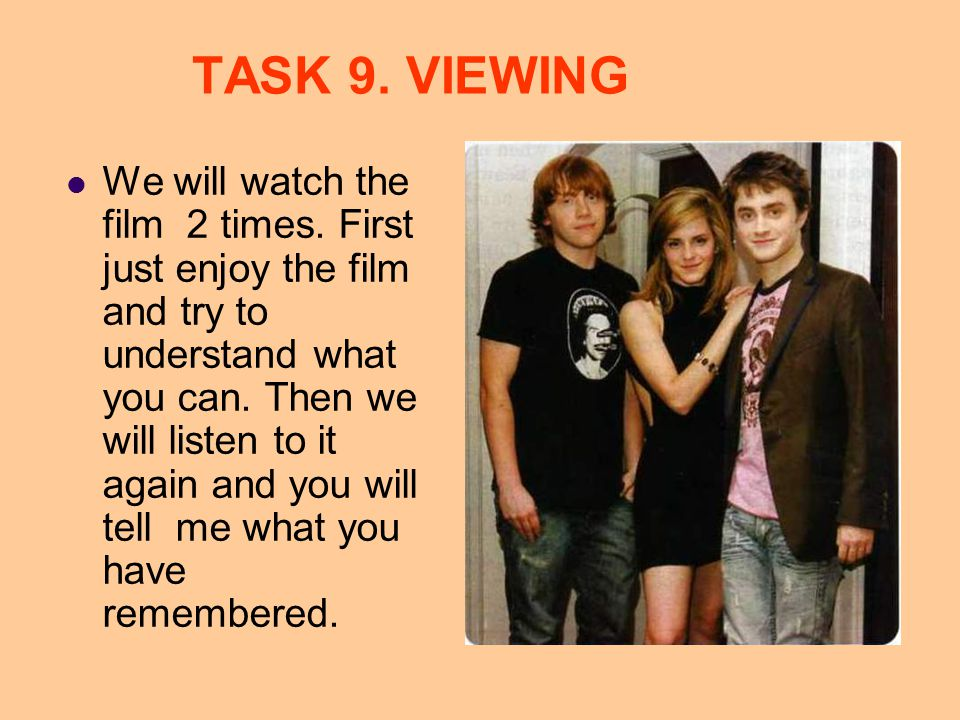 TASK 8. INTERVIEW You will work in pairs and play Reporters and Stars .
