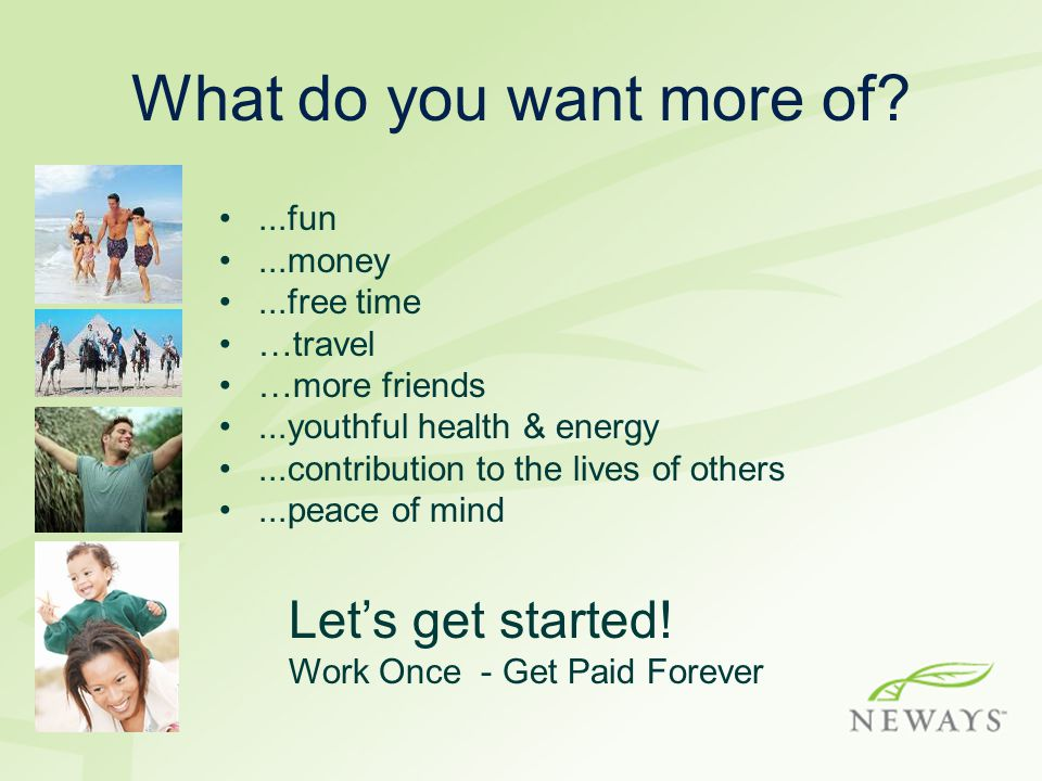 Getting Started 1.Complete your distributor enrollment at your sponsors' website.