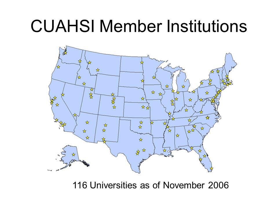 CUAHSI Member Institutions 116 Universities as of November 2006