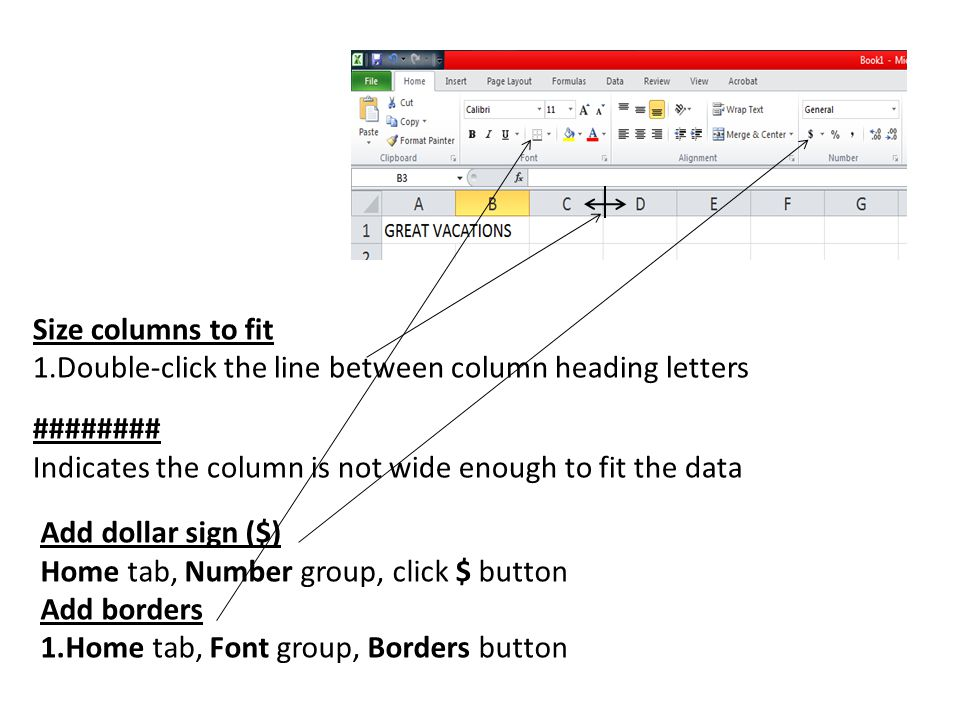 Center spreadsheet horizontally and vertically Page Layout tab, Page Setup group, Margins button Select Custom Margins Check horizontally and/or vertically Change page orientation (portrait or landscape) 1.Page Layout tab, Page Setup group, Orientation button Add footer Insert tab, Text group, Header & Footer tool OR Page layout view Add Gridlines and Row and Column Headings 1.Page Layout tab, Sheet Options group.
