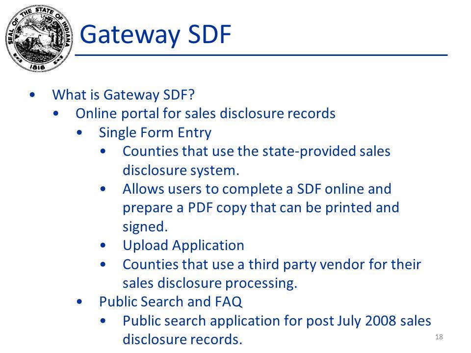 Gateway SDF What is Gateway SDF.