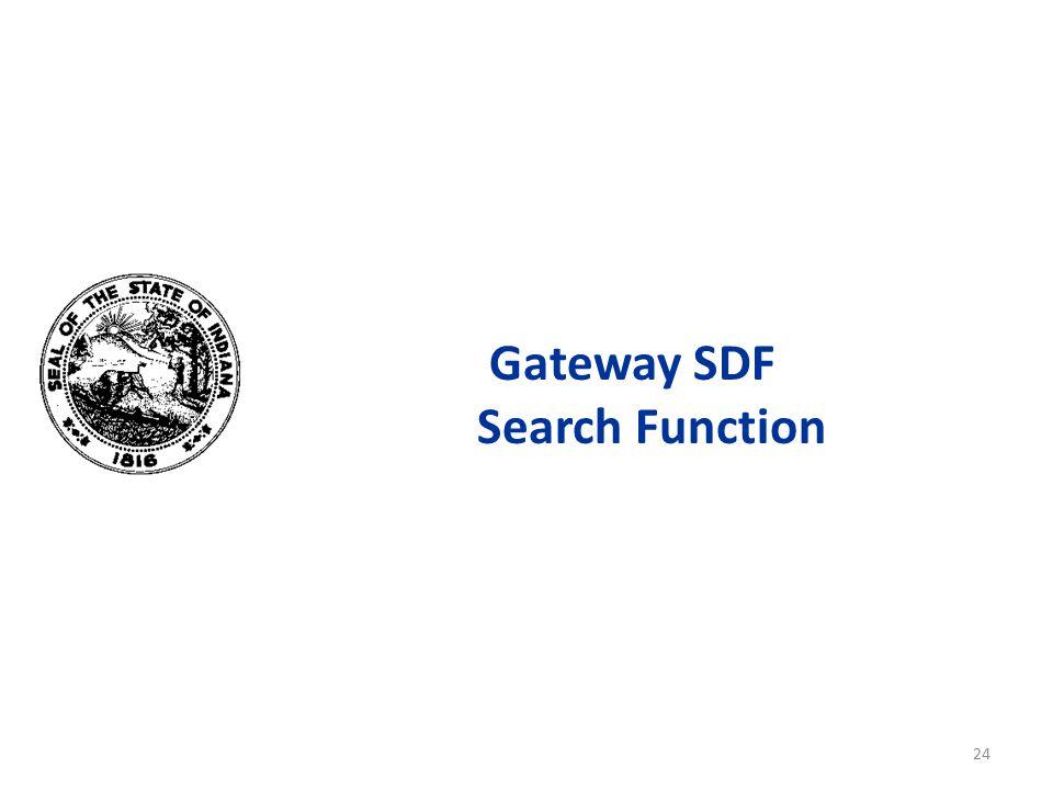 Gateway SDF Search Function 24