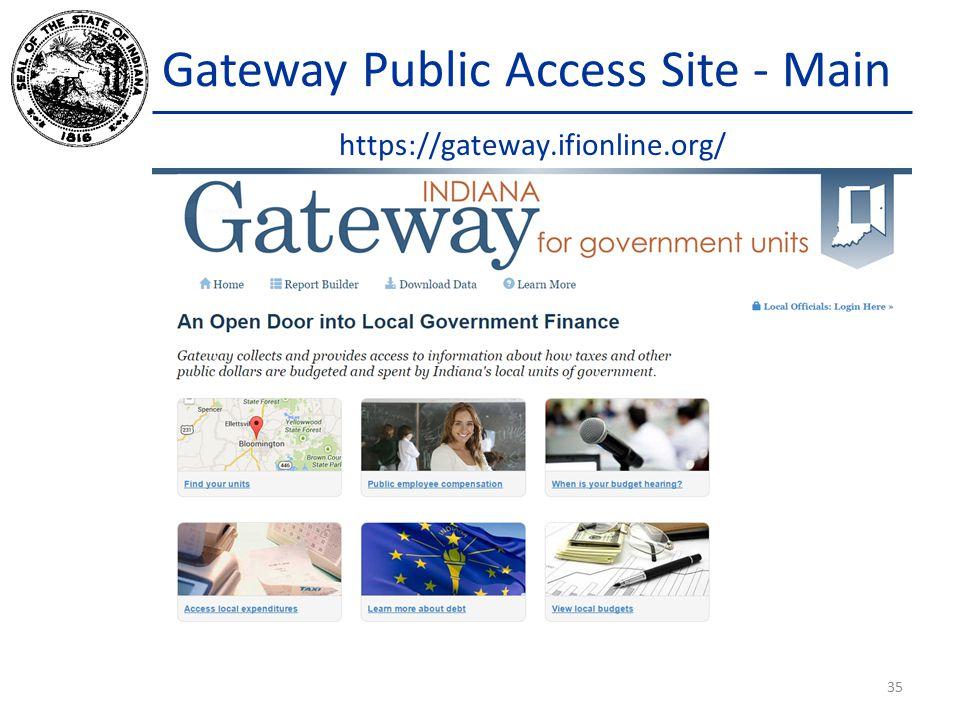 Gateway Public Access Site - Main https://gateway.ifionline.org/ 35