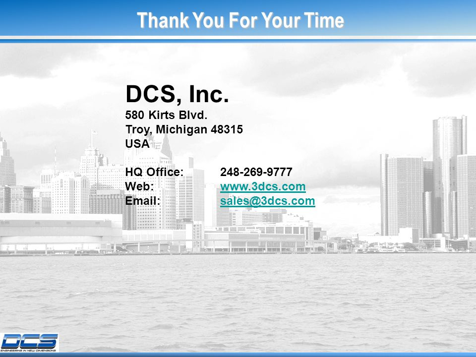 DCS, Inc. 580 Kirts Blvd.