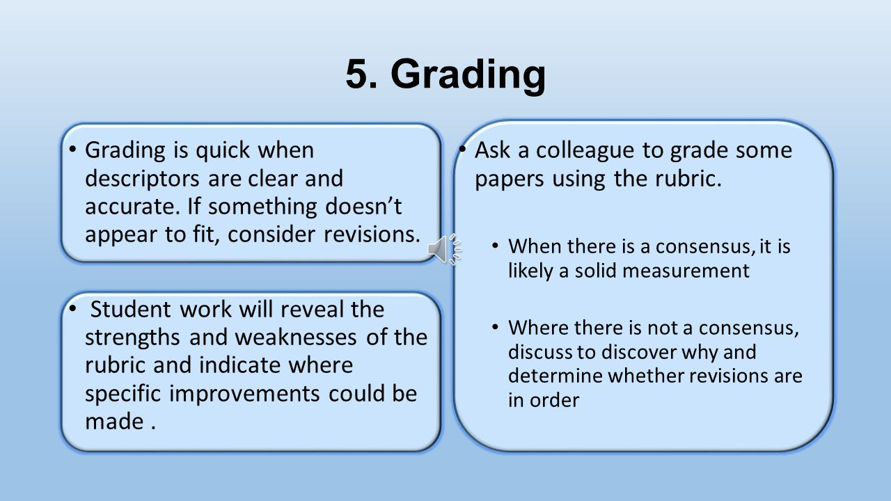 Self- Binding for Increased Objectivity Have student work numbered so that names are not visible Have essays typed prior to grading Grade after eating