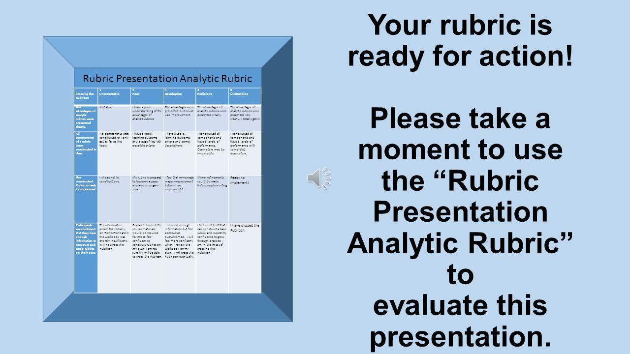 6. Revisions Rubrics Evolve