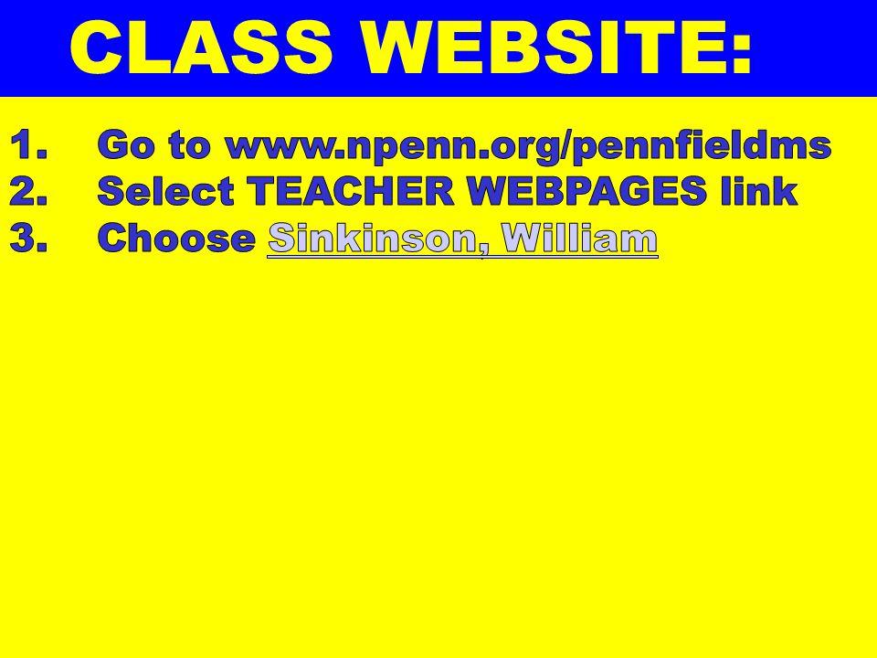 CLASS WEBSITE: