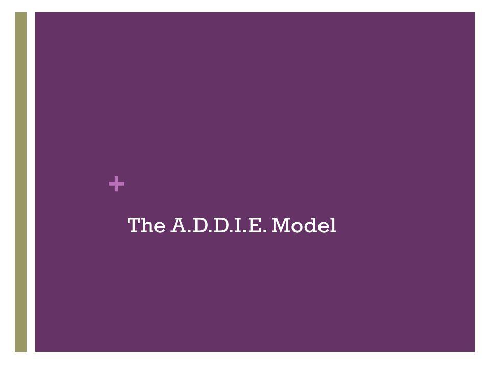 + The A.D.D.I.E. Model