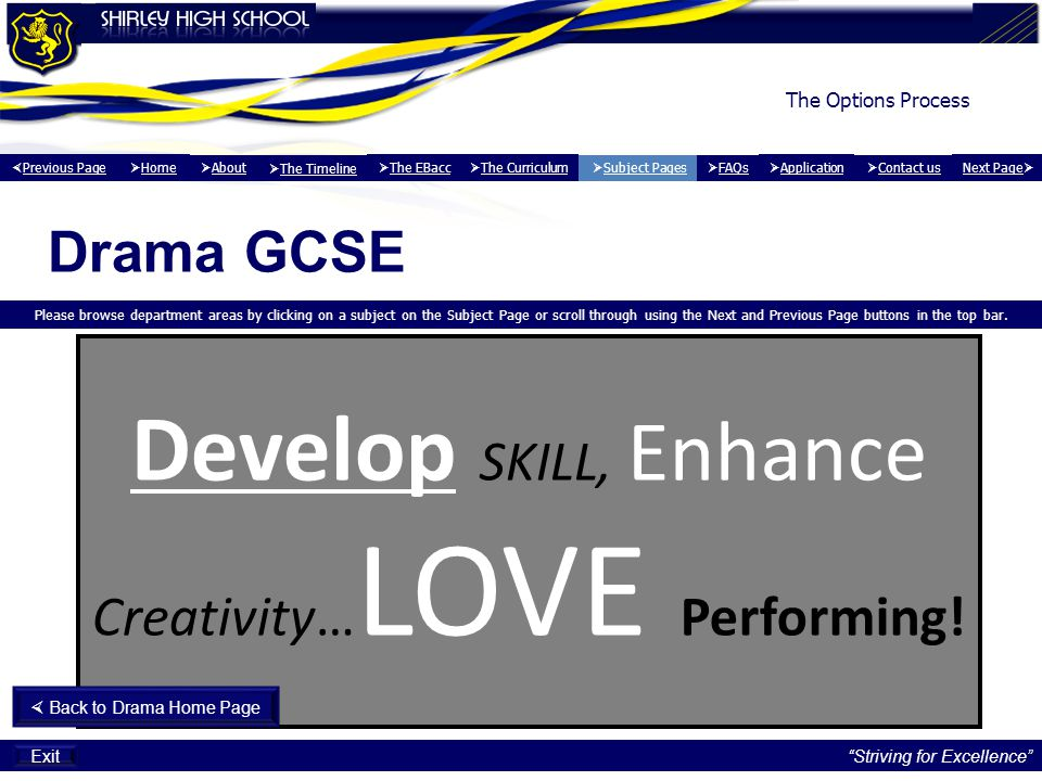 Develop SKILL, Enhance Creativity… LOVE Performing.