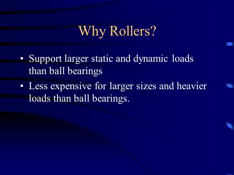 Why Rollers.